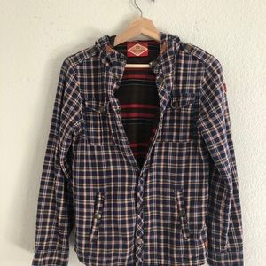 Scotch Shrunk Snap Front Flannel Hoodie Sh…